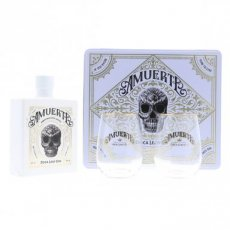 Amuerte White Edition Gift Box with 2 Glasses, 70 cl - 43°