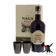 Rum Naga Gift Pack + 2 Glasses, 70 cl - 40°
