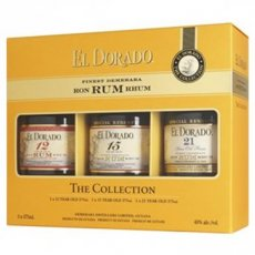 Rum El Dorado The Collection Giftset 12yo - 15yo - 21yo, 105 cl - 42°