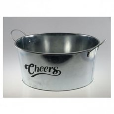Bucket Round Metalic 30 'Cheers'