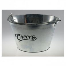 Bucket Round Metalic 30-18 'Cheers'